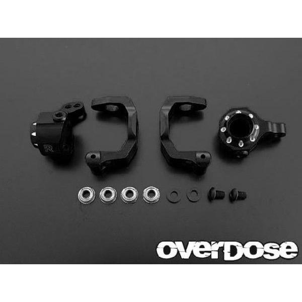 OVER DOSE OD1376 アルミCハブ&アップライトセット(For ドリパケ/ブラック)